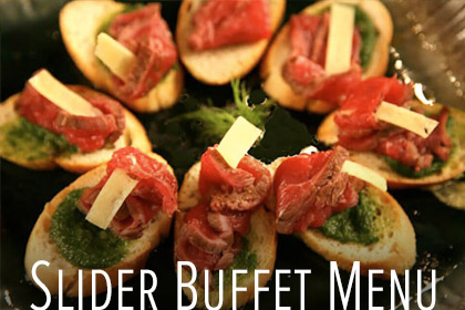 Slider Buffet Menu